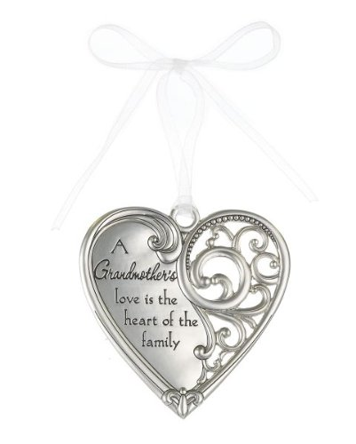 """A Grandmother's love is the heart of the family"" Always In My Heart Filigree Ornament"