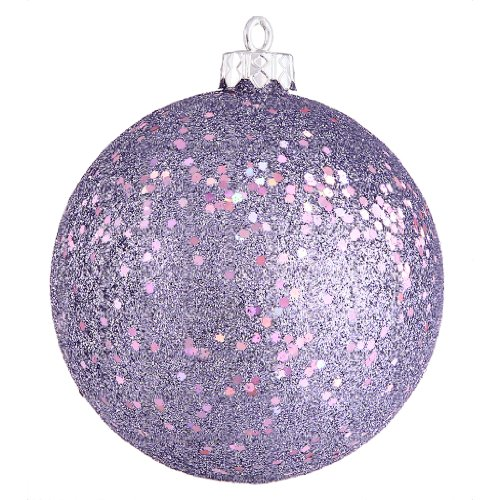 Vickerman 349649 – 4″ Lavender Sequin Finish Ball Christmas Tree Ornament (6 pack) (N591036DQ)