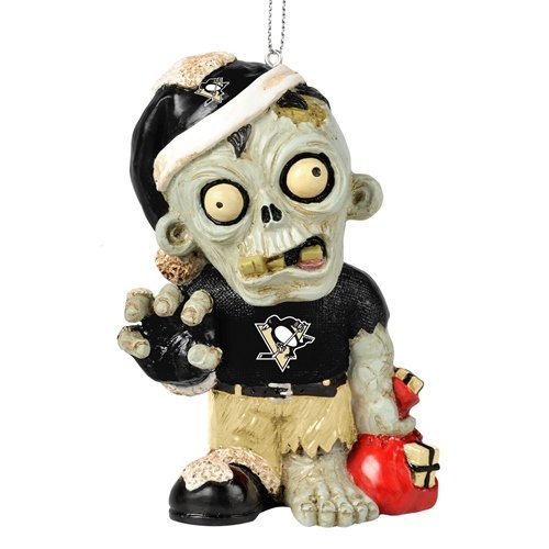 Pittsburgh Penguins NHL Zombie Christmas Ornament