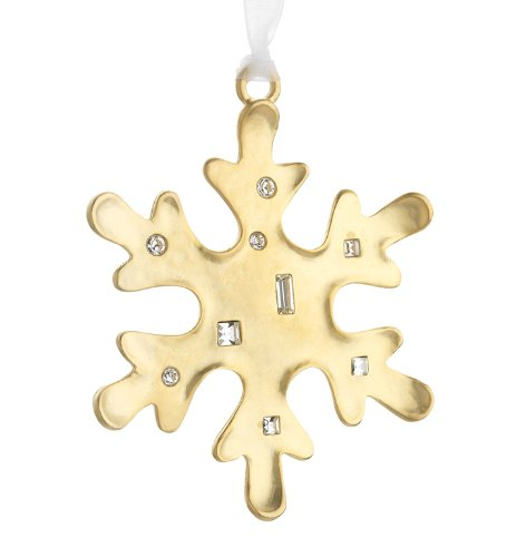 Golden Snowflake Winter Wonder Goldplated Ornament