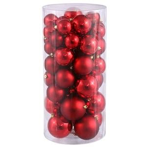 Vickerman Ball Ornament, 60/80/100mm, Red