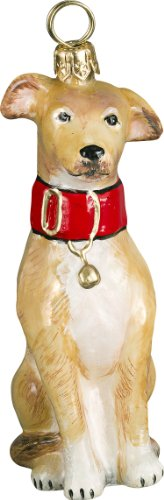 The Pet Set Blown Glass European Dog Ornament By Joy To The World Collectibles – Tan Greyhound