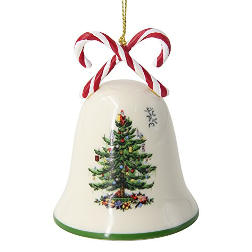 Spode Candy Cane Bell Tree Ornament