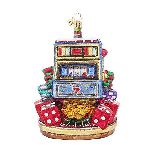 Christopher Radko Jackpot! Slot Machine Christmas Ornament