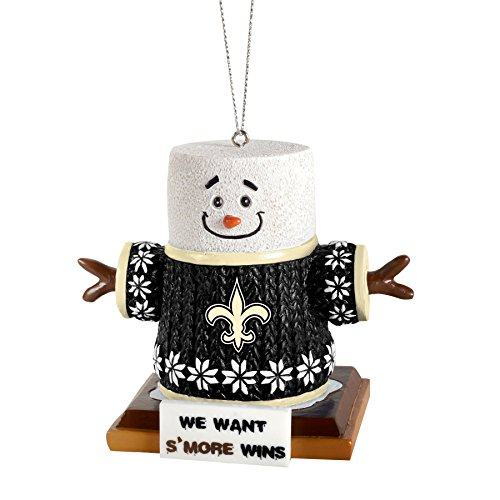 2015 NFL Football Team Logo Smores Holiday Tree Ornament – Pick Team (New Orleans Saints)