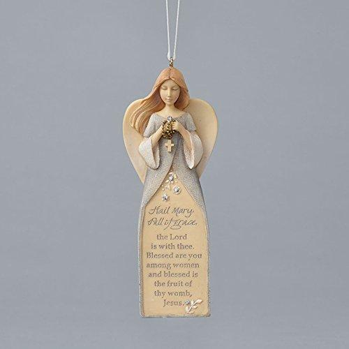 Enesco Foundations Hail Mary Prayer Ornament 4.72 IN