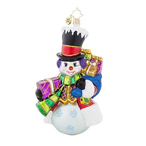 Christopher Radko Top Hat Frosty Snowman Christmas Ornament