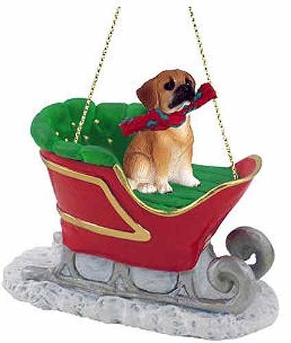 Puggle Sleigh Ride Christmas Ornament Brown – DELIGHTFUL!