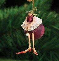 Krinkles Eggplant with Tutu Mini Ornament