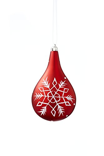 Sage & Co. XAO17543RW 4.75″ Snowflake Drop Ornament