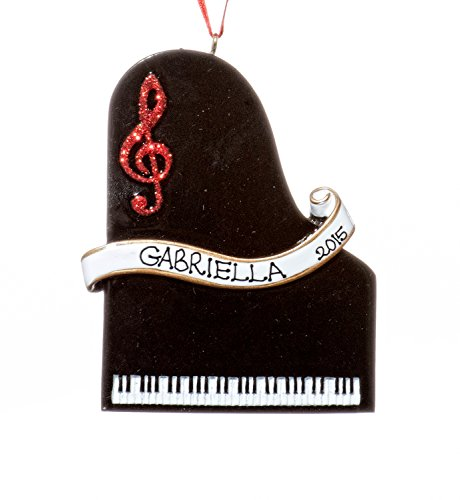 Christmas Holiday Piano Ornament-Free Name Personalized-Shipped In One Day