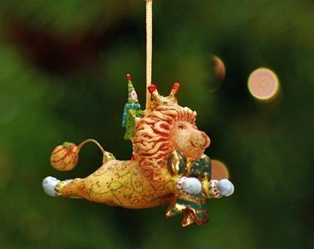 Patience Brewster Mini Ornament – Joyful Lion 08-30284