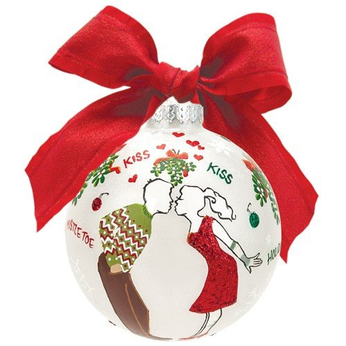 Santa Barbara Design Studio Lolita Holiday Moments Glass Ball Ornament, Mistletoe Me