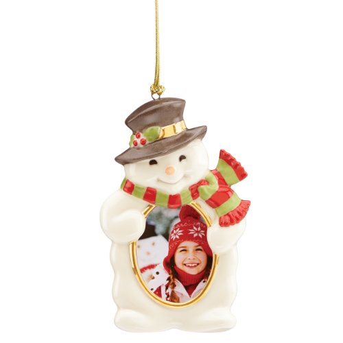 Lenox Snowman Frame Ornament