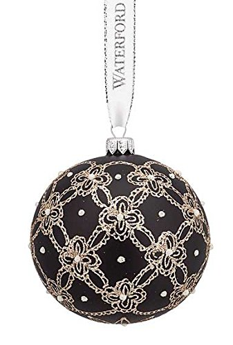 Waterford Pearls and Lace Ball Ornament