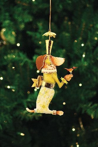 Patience Brewster Pointsittier Tin Ornament