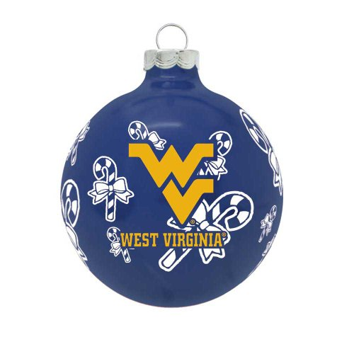 NCAA West Virginia Mountaineers Traditional 2 5/8″ Ornament