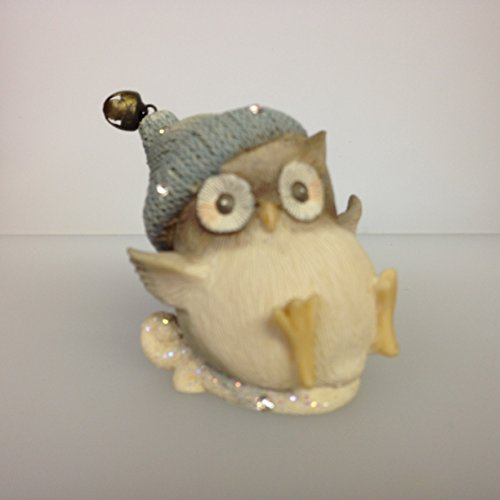 Owl Sledding Figurine