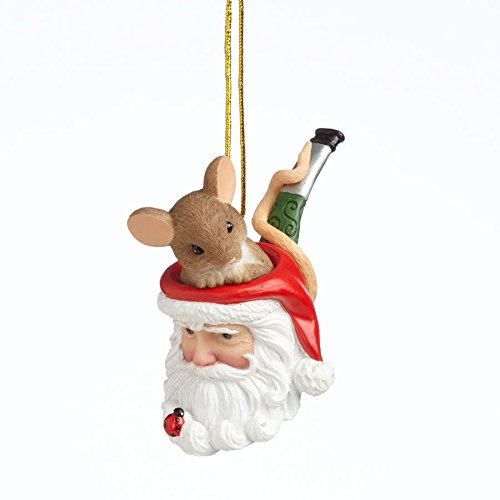 Charming Tails Holy Smokes Christmas is Here Mouse Santa Pipe Ornament 4041177