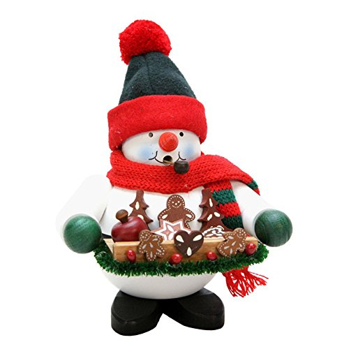 """1-461 – Christian Ulbricht Incense Burner – Snowy with Gingerbread – 7″""""H x 5.5″""""W x 5″""""D"""