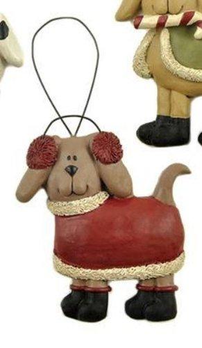 Blossom Bucket Sweater Dog Ornament, Choice of Styles (earmuffs)