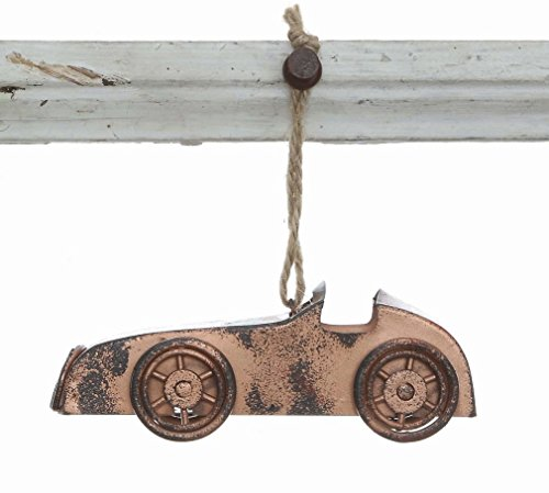 Bronze Finish Metal 4 Inch Vintage Ornament (Racecar)