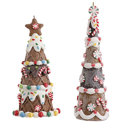 RAZ Imports – 5.5″ and 6.25″ Gingerbread Tree Ornaments