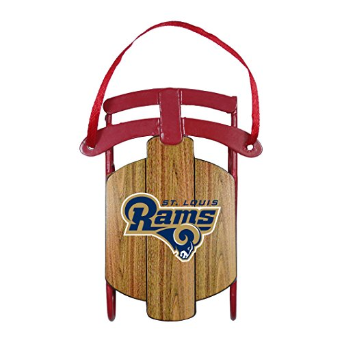St Louis Rams – NFL Official 3.5″ Metal Sled Ornament