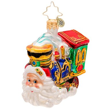 Christopher Radko Choo Choo Claus Train Gem Ornament