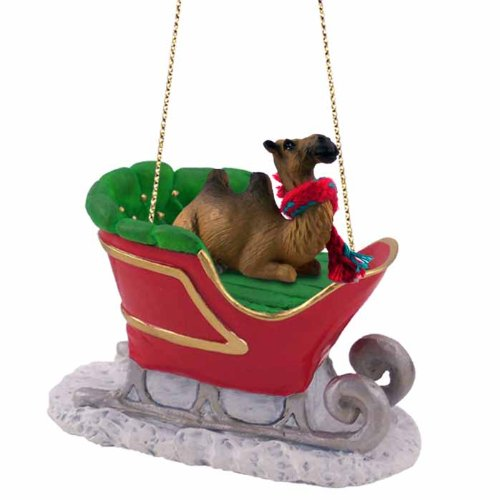 Camel Bactrian Sleigh Ride Ornament