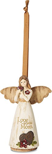 Pavilion Gift Company 02981 Love You Mom Ornament/Angel Figurine, 4-1/2-Inch