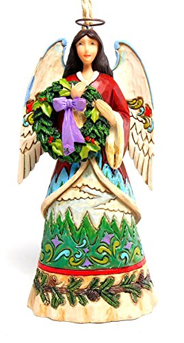 Jim Shore Angel and Evergreen Ornament
