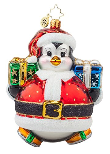 Christopher Radko Glass Poly Penny Skater Penguin Christmas Ornament #1017893