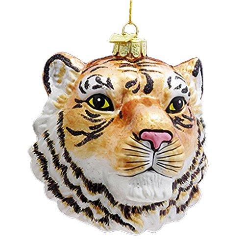 Kurt Adler Ornaments NB0472 Noble Gems Tiger Head Ornament