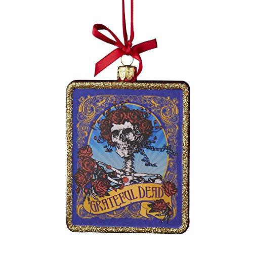 Kurt Adler Glass Grateful Dead Ornament, 4.25-Inch