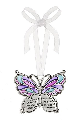 Ganz Butterfly Wishes Colored Ornament – Nana you are a beautiful reflection of yesterday and a joyful promise of tomorrow