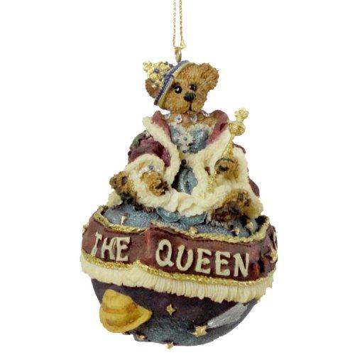 Boyds Bears Resin Regina D Ferrisdaval Ornament Christmas Bearstone Queen – Resin 3.75 IN