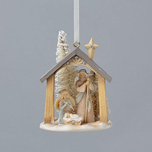 Enesco Foundations Mini Nativity Ornament 2.56 IN