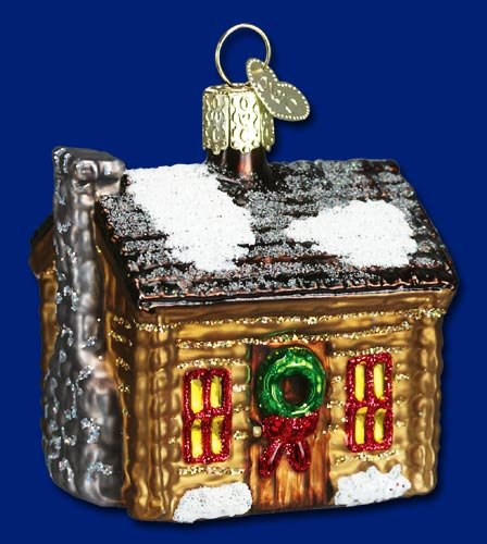 Old World Christmas Log Cabin Ornament