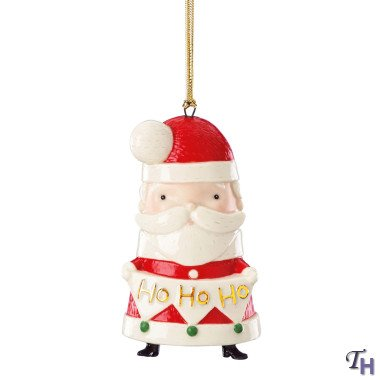 Lenox Festive Friends Santa Ornament