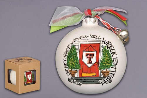 """As For Me And My House"" Holiday Ornament (Texas Tech Red Raiders)"