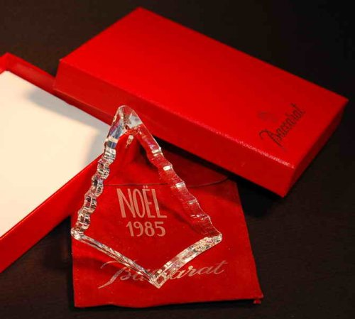 Baccarat Crystal 1985 Limited Edition Annual Christmas Ornament – Tree