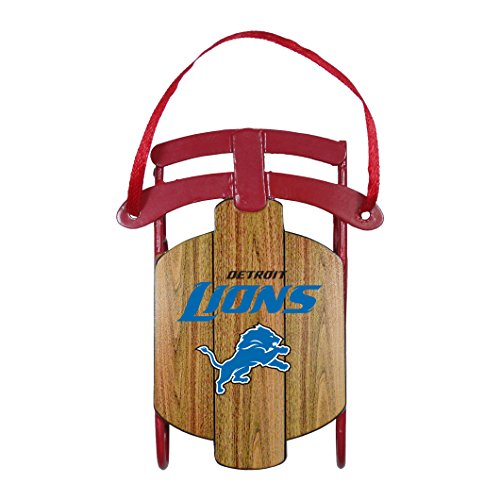 Detroit Lions – NFL Official 3.5″ Metal Sled Ornament