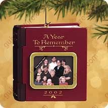 A YEAR TO REMEMBER 2002 Hallmark Ornament QX2813