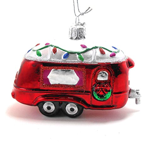 Kurt Adler 4.5″ Noble Gems Glass RV Ornament