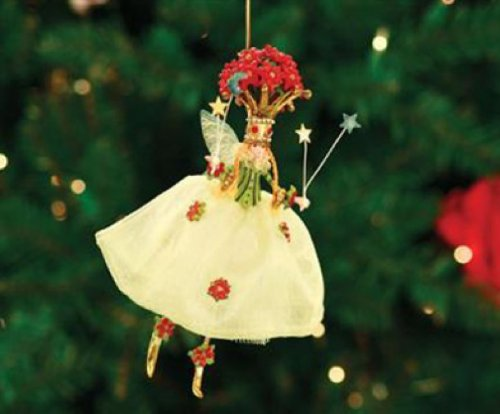 Patience Brewster Krinkles Poinsettia Queen Ornament