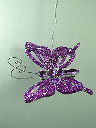 New Purple Butterfly Clip On Christmas Tree Ornament One Hundred 80 Degrees