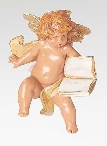 Pack of 2 Fontanini 5″ Collection Cherub with Book Religious Christmas Ornaments