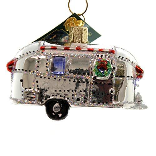Old World Christmas VINTAGE TRAILER Glass Ornament Travel Home 46053
