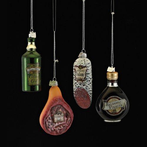 3.5″ Noble Gems Glass Italian Food Ornament